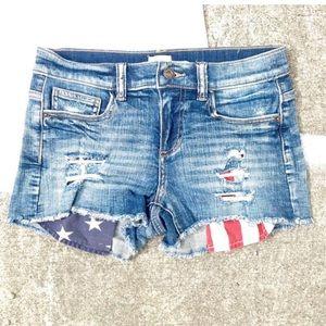 Liv Luv Shop American Flag Jean Shorts